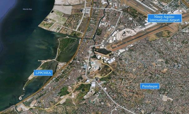 LPPCHEA Freedom Island Metro Manila map