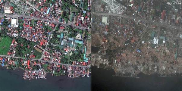 Haiyan Before and After